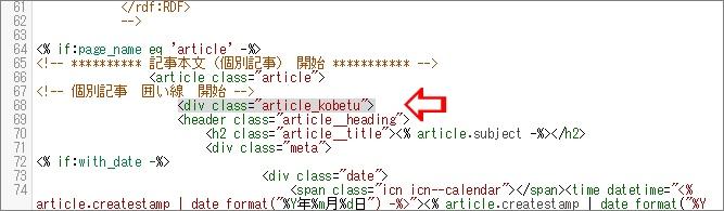 追加するHTMLコード