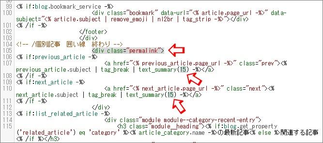 編集するHTML部分