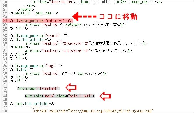HTML編集画面でのl-content部分