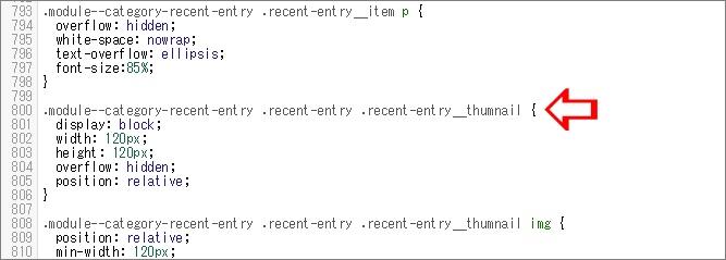 関連記事のサムネイル部分のコード画像