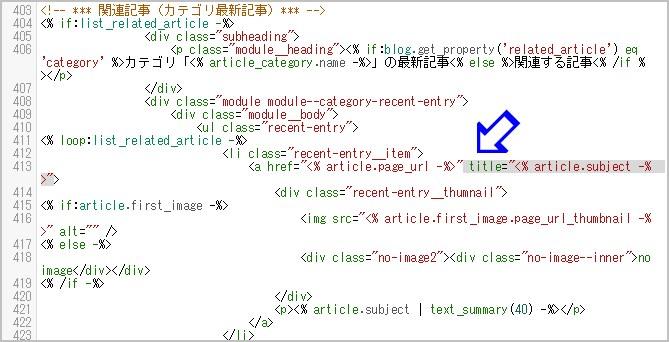 編集後のHTML